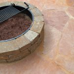 firepit with metal grate