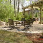 patio furniture near firepit