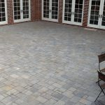 brick patio with chairs