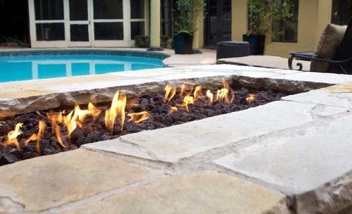 firepit in backyard