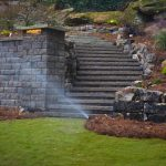irrigation system and stairs
