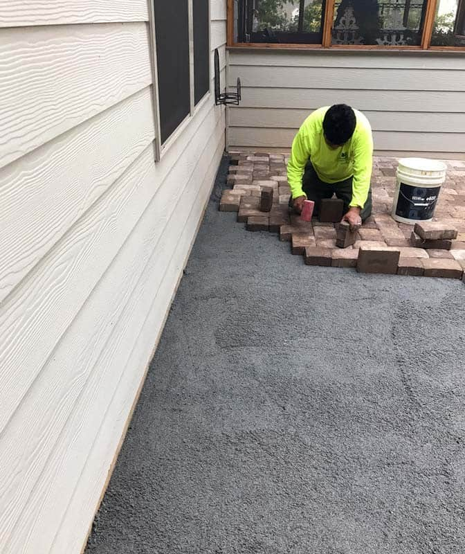 New Brick Paver Patio