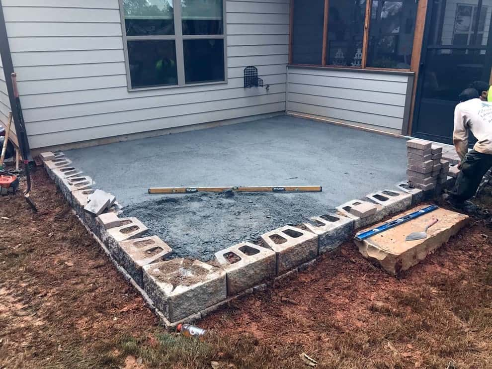 New Patio Foundation