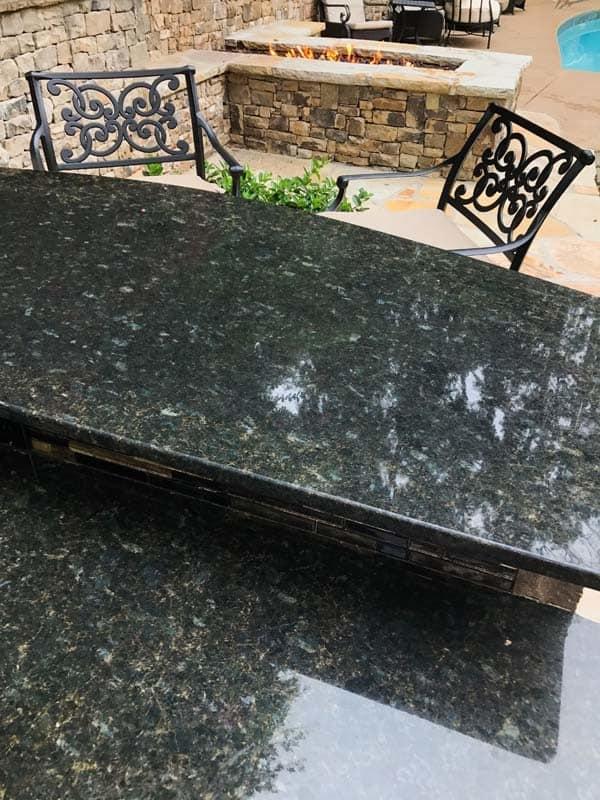 Outdoor Bar with Granite Countertop