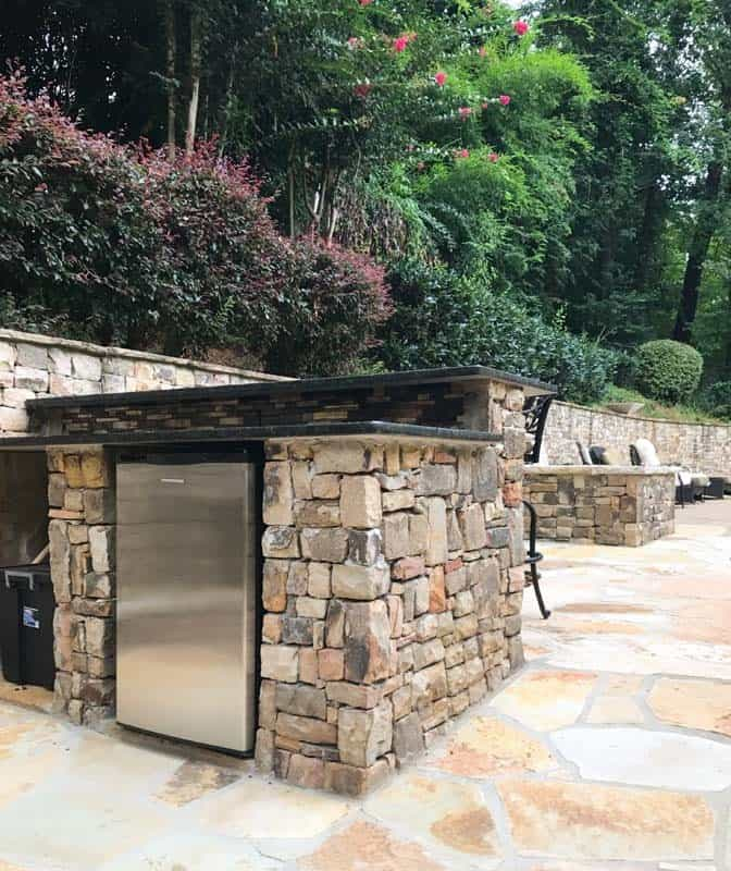Outdoor Bar with Refrigerator