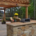 stone wall with grill