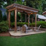 pergola with chairs