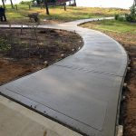 cement walking path