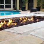 firepit near pool