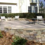brick patio with furniture
