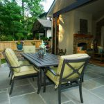 table and chairs on patio