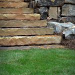 stone stairs and grass