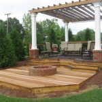 pergola with firepit