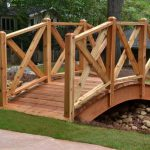 wood bridge over creek